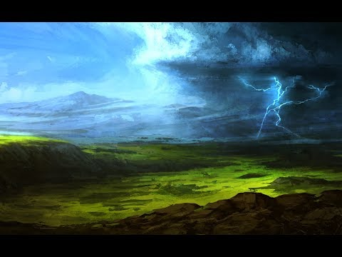 Photoshop Speedpaint – Fantasy Storm Landscape