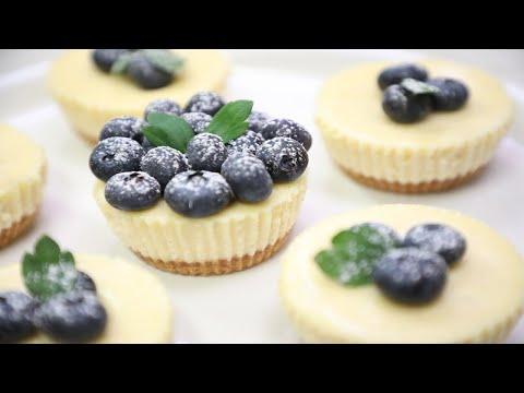 迷你芝士蛋糕-(簡單做法)-|-mini-cheesecake-|-mini-gâteaux-au-fromage