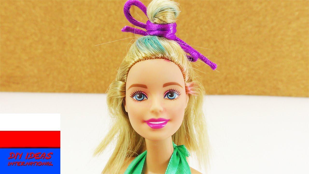 Diy Moda Dla Barbie Fryzura Na Plażę Dla Barbie Half Up Half Down