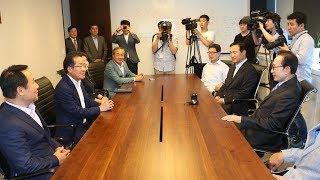 2017년7월25일 자유한국당 홍준표 당 대표 이명박 전 대통령 예방