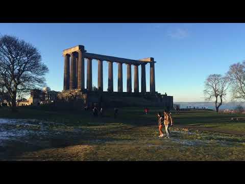 Top Panorama View @ Calton Hill Edinburgh Scotland United Kingdom