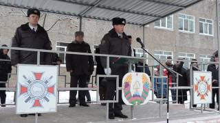 Принятие военной присяги новобранцами войсковой части 5527. Бобруйск. 17.12.2016г.