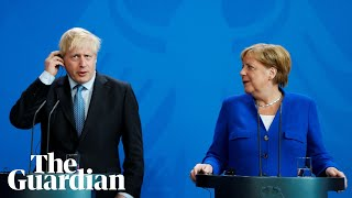 Angela Merkel challenges Boris Johnson to find backstop solution in 30 days