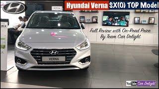 Hyundai Verna 2018 SXO Top Model Detailed Full Review   Team Car Delight