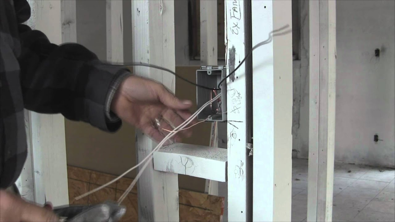 Electrical WiringBasic light switch wiring YouTube – Rough Electrical Outlet Wiring Diagram