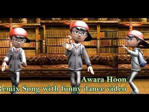 awara hoon remix song with funny dance video