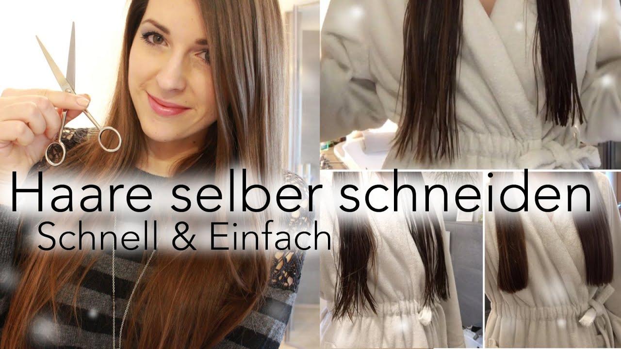 Haare Selber Schneiden Schnell & Einfach Für Glatte Haare DIY