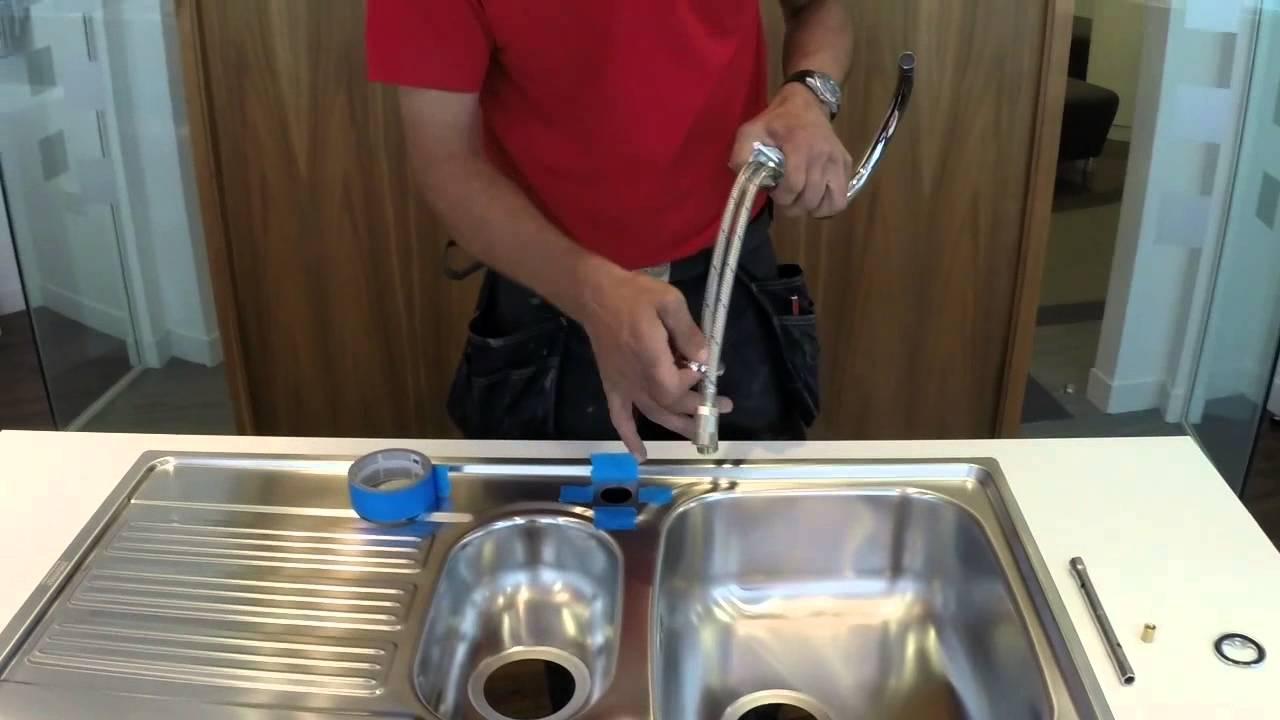 Fit Franke First - Installing a Franke Kitchen Tap - YouTube