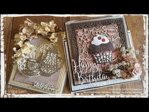 Crafters Companion Sara Signature Collection BIRTHDAY PARTY,shabby chic /& more..
