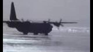 C130 Hercules Beach Landing