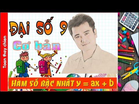 ĐS9   Bài: HÀM SỐ BẬC NHẤT y = ax + b.