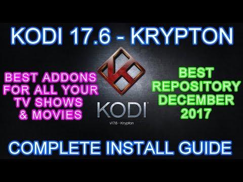Kodi Complete Guide DECEMBER 2017 + POSEIDON ADDON (Kodi 17 Krypton for Beginners) KODIL REPO