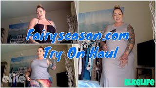 Review: FAIRYSEASON.com Plus Size Curvy Fashion Haul | Elke