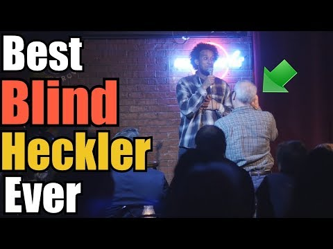 Blind heckler makes comedians day | Aba Atlas