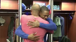 WATCH: Curtis Granderson says goodbye to Mets teammates