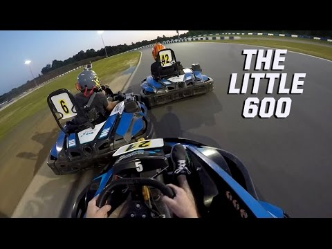 NASCAR drivers battle in a go-kart classic