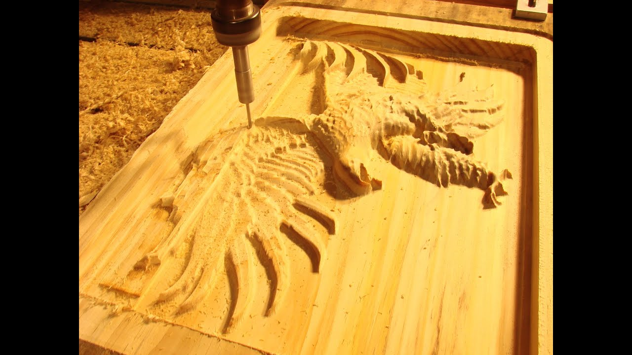93 CNC Router Machining a $250 Eagle in Tasmanian pine - YouTube