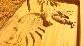 93 CNC Router Machining a $250 Eagle in Tasmanian pine