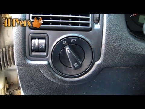 DIY: Volkswagen Headlight Switch Removal