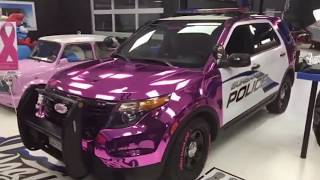 Burbank Police, West Coast Customs Reveal Pink Police Cruiser