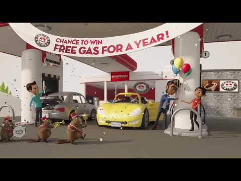75 prizes of Free Gas For a Year! 15 sec