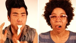 Repeat youtube video People Eating Foods They Hate In Super Slow Mo