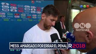 Messi, amargado por errar el penal ante Islandia - El Noticiero de la Gente