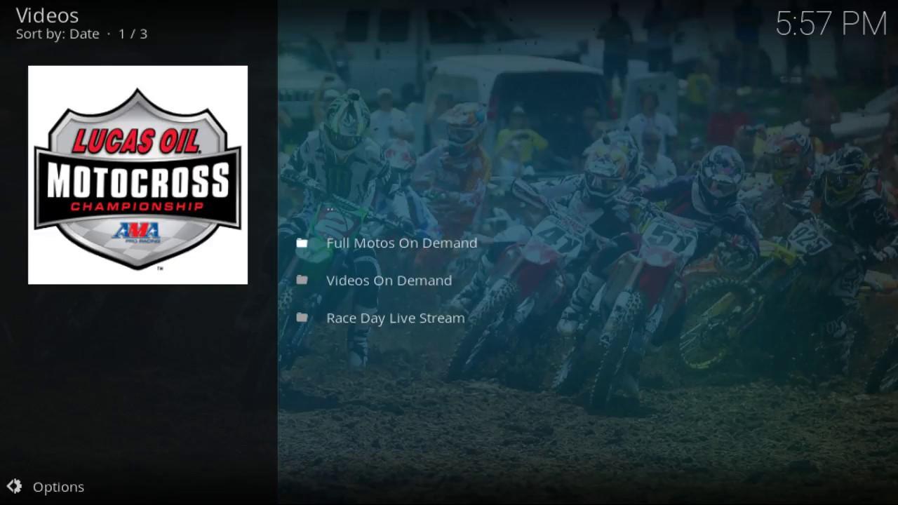 lucas oil racing tv on kodi