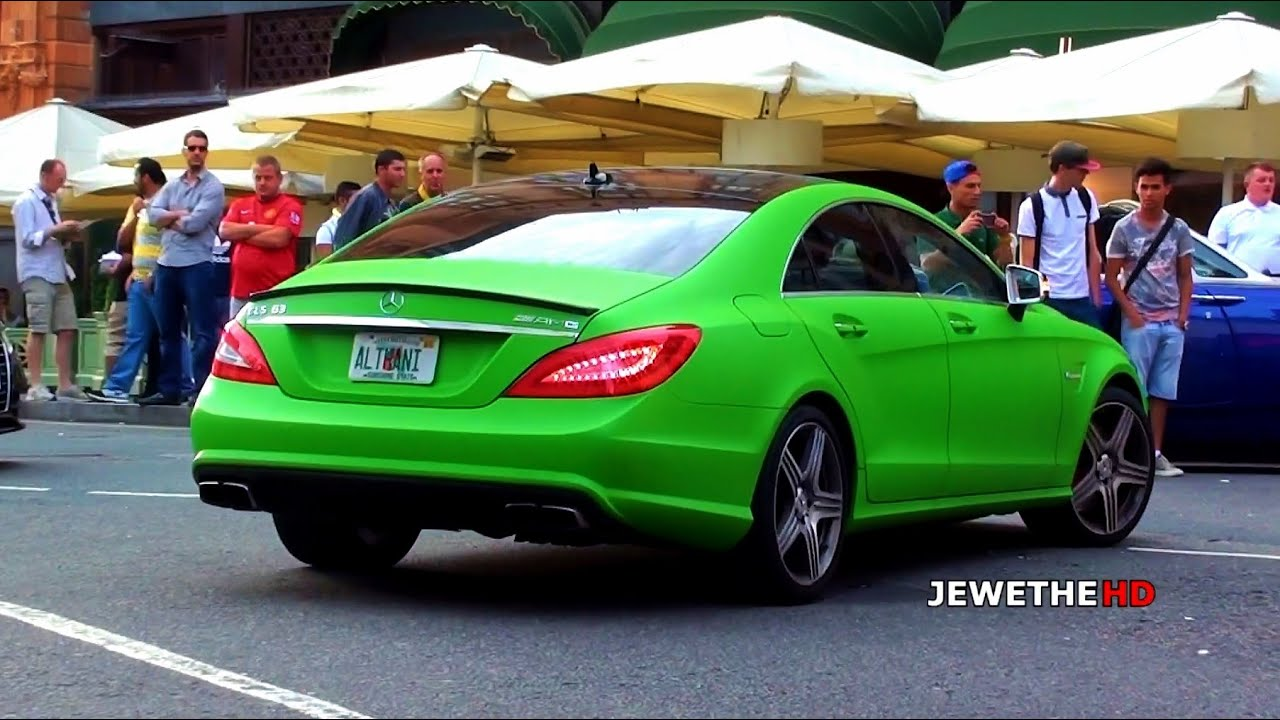 matte green mercedes benz cls 63 amg in london exhaust. Black Bedroom Furniture Sets. Home Design Ideas