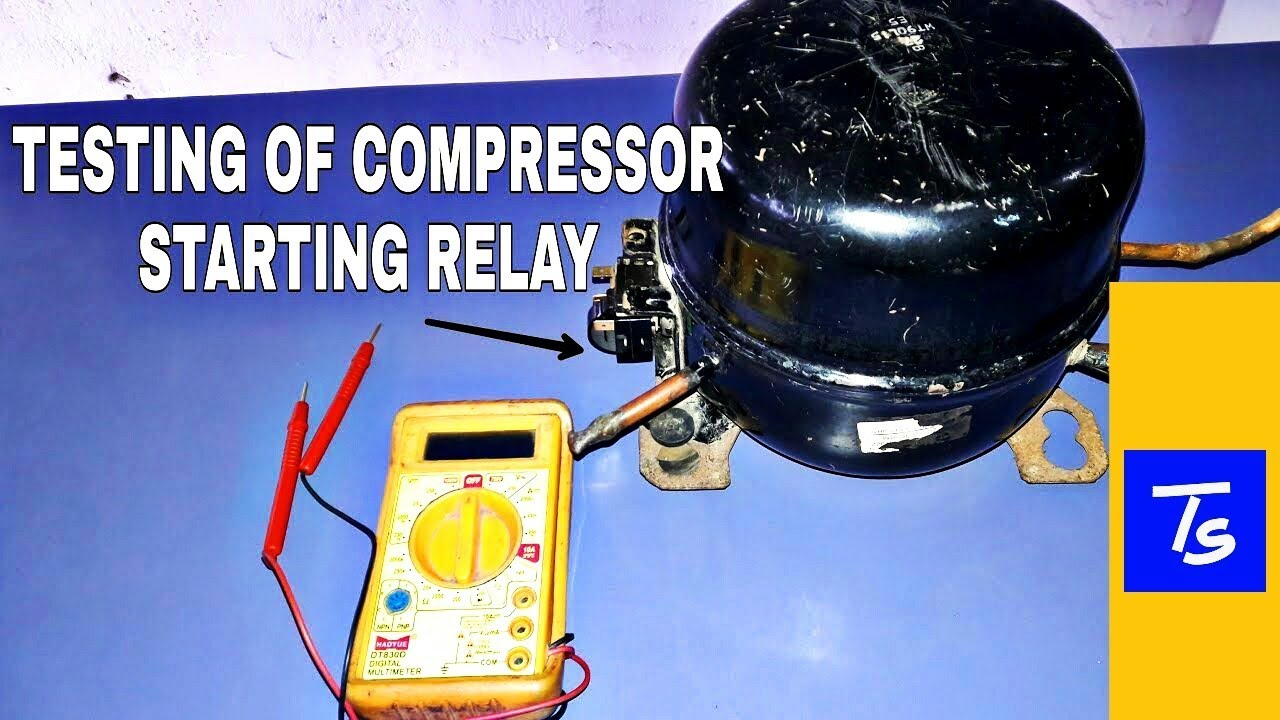 Test Refrigerator Compressor Relay Potential Troubleshooting Diagram
