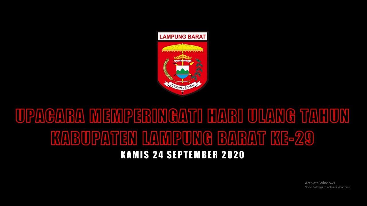 Upacara Ulang Tahun Kabupaten Lampung Barat Ke 29 Youtube