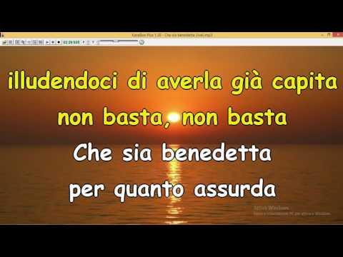 Che sia benedetta - F Mannoia (live Sanremo 2017 ) solo testo