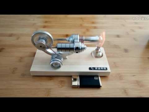 史特林發動機 斯特林發動機 發電機 微型發電機引擎模型外燃機引擎 M14-03-S - YouTube