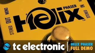 TC Electronic Helix Phaser Pedal   FULL DEMO