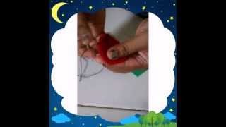 Strawberry dari kain flanel