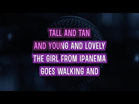 The Girl From Ipanema Karaoke Version by Amy Winehouse (Video with Lyrics)