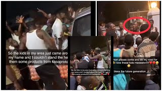 Shatta Wale Feeds, Advice and Jams with kids who stormed his house chanting his name