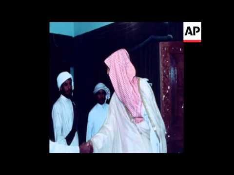 SYND 27 10 78  SAUDI PRINCE AL-FAISAL MEETS SULTAN OF ABU DHABI
