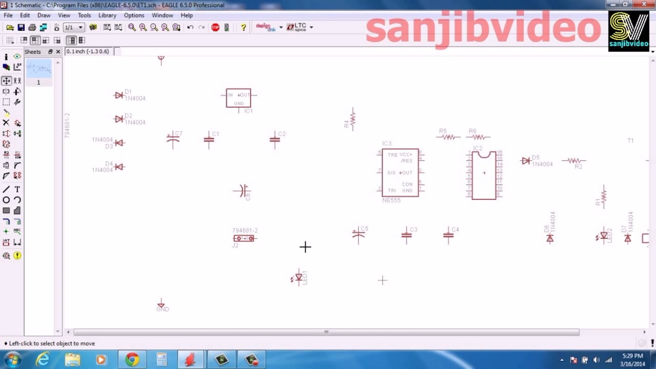 Eagle 2 Of 12 Rearrange Component How To Design Circuit Youtube