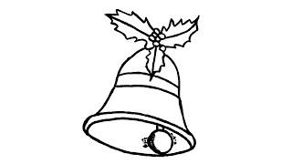 Wie zeichnet man eine Weihnachtsglocke (Ornament)