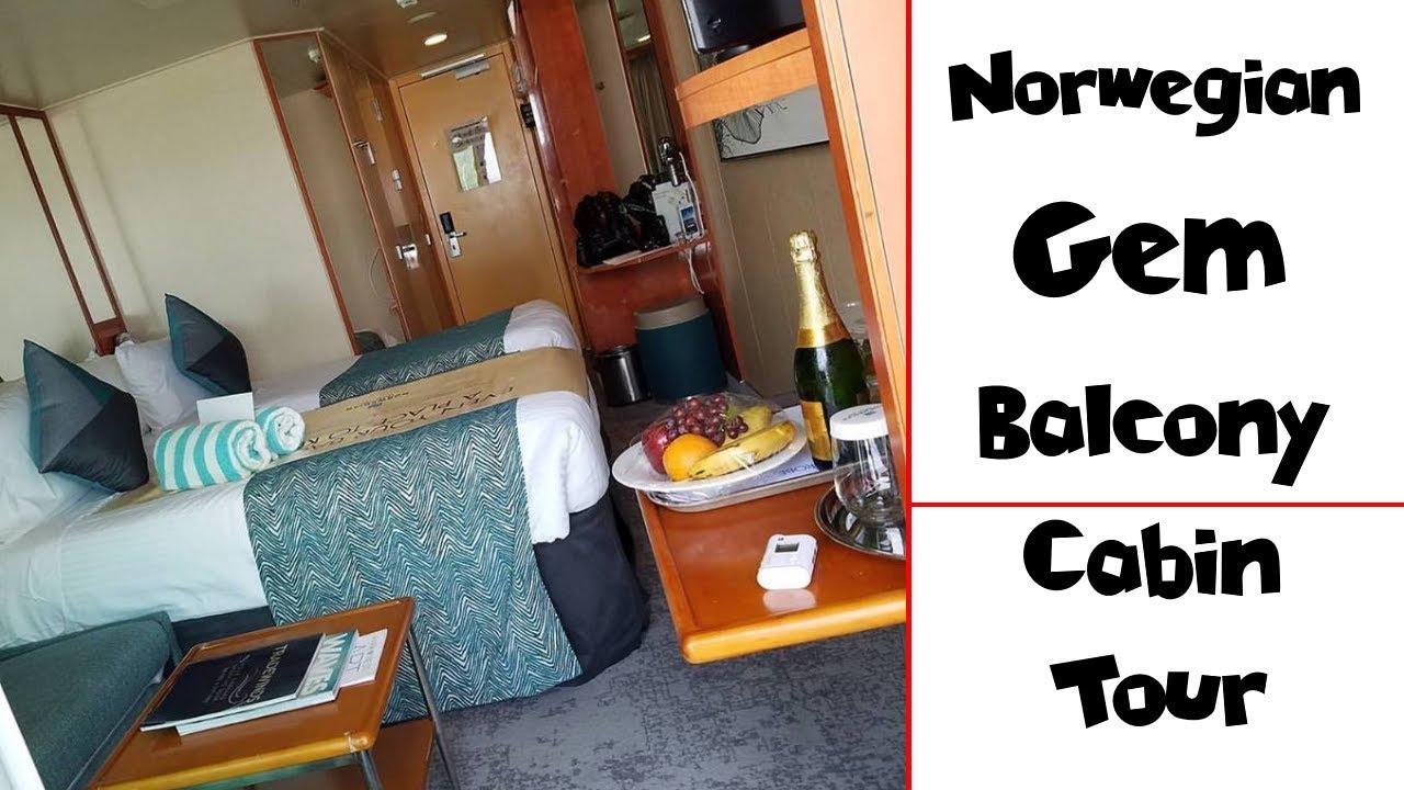 Norwegian Gem BALCONY Detailed Cabin Tour ~ NYC Manhattan Cruise Port