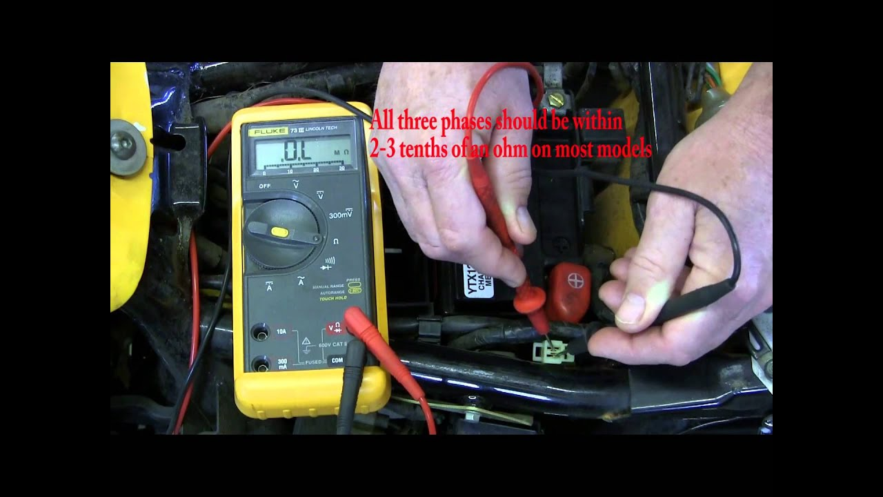 1 How to test a motorcycle stator - YouTube Bad Cat E Wiring Harness on