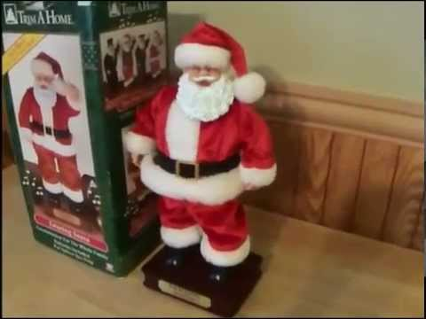 ed8d4152e973b Trim A Home TL Toys Twisting Santa Claus Singing Dancing Christmas ...