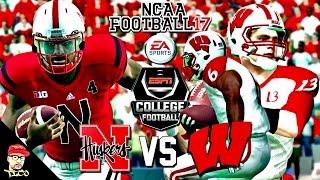 NCAA Football 17 | #7 Nebraska vs #11 Wisconsin | Sat College Football Gameplay 🏈
