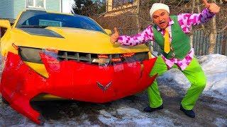 Mr. Joe on Chevrolet Camaro found Bumper and Wheels & Repair Car in Car Service for Kids