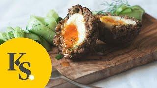 Schottische Eier | Rezept für original Scotch Eggs mit Hackfleisch