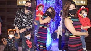 Hot Mom Sunny Leone Aka Karenjit Kaur With Hubby Daniel & Kids Nisha, Noa, Asher Arrived For Dinner