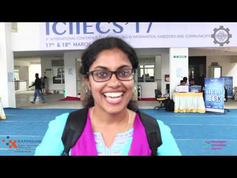 IEEE Sponsored 4th international conference -  ICIIECS 17 - Karpagam College of Engineering