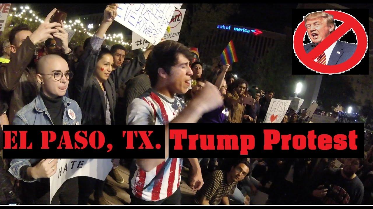 El Paso, TX  Trump Protest 11/11/16