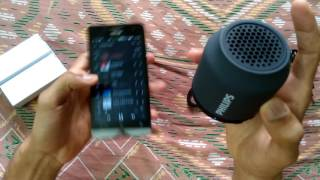Unboxing of Philips Bluetooth speaker BT50 and its sound test